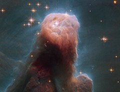 The Cone Nebula from Hubble (www.linkobservatory.org) Tags: stars ngc gas nebula dust hubble monoceros