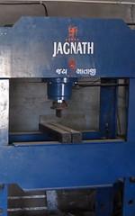Swastika on industrial equipment, Gujurat, India (CultureWise) Tags: swastika india symbols industrial