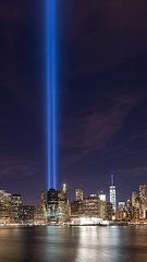 Light up the sky (Photos By RM) Tags: tributeinlight 911 light sky newyorkcity manhattan nyc night searchlights september11 horizontal blue evening longexposure canon markiii usa neverforget freedomtower widescreen bluesky
