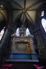 Inside Glasgow cathedral (54) (dddoc1965) Tags: dddoc davidcameronpaisleyphotographer glasgow cathedral necropolis landmark scotland october 7th 2016 cloudy precinct autumn yellow trees windows ceiling stone arcitech flags kenny game thrones