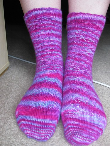 Pretty pink socks for me!