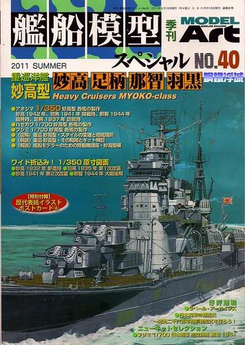 1/350 IJN HEAVYCRUISER HAGURO ,Model Art Waterline Special No.40