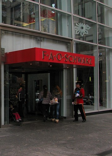 FAO Schwarz entrance NYC