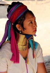 Kayan Long Neck woman (marietta.g (flower_bee)) Tags: thailand burma refugees culture karen tradition tribe ethnic coils indigenous hilltribes padaung kayan longneckwoman kayanlahwi