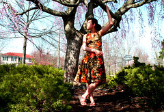 Embracing Nature: 1 (DesFortunata) Tags: sunlight nature beauty fashion advertising cherry asian natural body sandals au blossoms ad naturallight full advertisement flowergirl pocohontas covergirl highfashion embracing americasnexttopmodel flowerdress