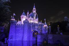 Sleeping Beauty Castle at Night (Devin Franklin Photography) Tags: california blue castle night nikon disneyland anaheim sleepingbeautycastle nikondx d5200