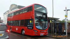 P1220994 13022 BG14 ONT at Woolwich Arsenal Station Vincent Road Woolwich London (LJ61 GXN (was LK60 HPJ)) Tags: streetdeck stagecoachlondon 13022 euro6 volvob5lhybrid wrightbusgemini3 bg14ont