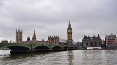 Big Ben (gtsiat) Tags: city uk trip travel bridge light vacation england cloud london clock thames clouds river photography photo day parliament bigben rainy tamesis