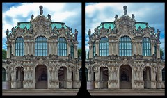 Zwinger of Dresden ::: Tonemapping and Stereoscopic 3D (Stereotron) Tags: 3d 3dphoto 3dstereo 3rddimension spatial stereo stereo3d stereophoto stereophotography stereoscopic stereoscopy stereotron threedimensional stereoview stereophotomaker stereophotograph 3dpicture 3dglasses 3dimage crosseye crosseyed crossview xview cross eye pair freeview sidebyside sbs kreuzblick hyperstereo twin canon eos 550d yongnuo radio transmitter remote control synchron in synch kitlens 1855mm tonemapping hdr hdri raw cr2 europe germany saxony sachsen dresden zwinger architecture baroque barock museum 100v10f