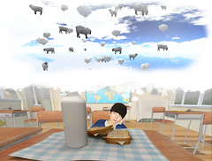 [] counting sheep (taeeetae) Tags: counting sheep immaculate perception reflection kyoto kagai mineko daydreaming dreaming dreams clouds balloons herd japanese asian japan kawaii blue pastel cute beautiful land destination slurl map second life sl slife s l