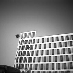 The police station (Nils Kristofer Gustafsson) Tags: blackandwhite bnw ishootfilm retro rollei 400s lomo lomography sweden rebro keepfilmalive filmisnotdead filmphotography film rodina adonal diana mini
