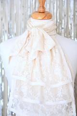 Ivory Lace Jabot (Mademoiselle Mermaid) Tags: jabot lace neckwear vintagestyle collar victorian frill ruffles ruffle handmade mademoisellemermaid romantic ivory ivorylace ivoryjabot