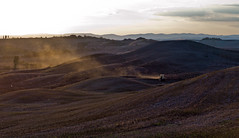 """ The warm sunset light "" (pigianca) Tags: italy cretesenesi sunset plowing landscape leica m9 summilux50mmf14"
