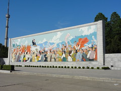 Kim Il Sung mural - Triumph Return Square, Pyongyang (mikestuartwood) Tags: people art monument painting square asian mural asia kim north korea victory il communist communism korean return triumph socialist socialism northkorea victorious sung dprk dpr kimilsung northkorean dprkorea dprkorean triumphreturnsquare