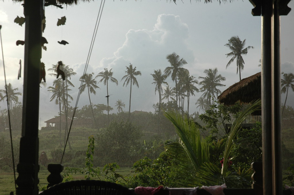 Afternoon rain storm, Balian beach, Bali
