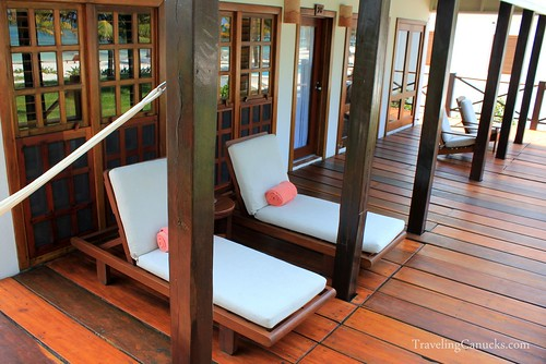 Our Private Deck at Victoria House, Ambergris Caye, Belize
