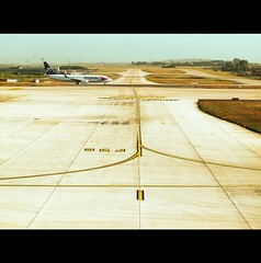 one day in the other out (Elena Fedeli) Tags: travel airport pista viaggio charlesdegaulle aereo avion aereoporto