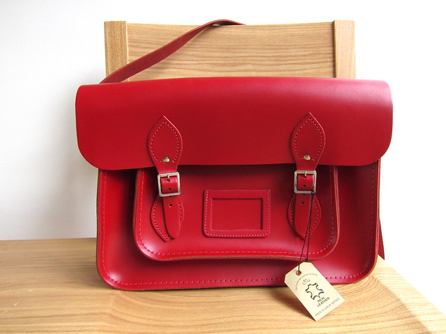 Cambridge Satchel red 14""