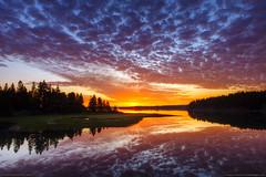 Acadia National Park Sunrise (Greg from Maine) Tags: ocean sky seascape reflection clouds sunrise reflections landscape nationalpark maine newengland barharbormaine acadia barharbor acadianationalpark easternbay trentonmaine ringexcellence