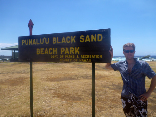 Me at Punalu'u Black Sand Beach