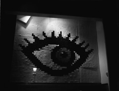 Eye @ Night (Coffinradio) Tags: street eye mamiya night docks stand nacht walk c s schaufenster 200 pro rodinal 90mm hafen laterne 90 auge rb 67 1100 fomapan sekor strase standdevelopement