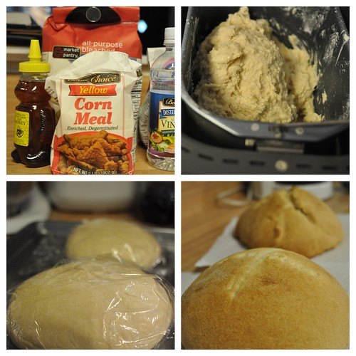 Homemade Cornmeal Honey Bread