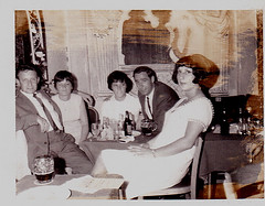 Yvette with friends, 1960's. (cheryldecarteret) Tags: friends hotel 1960s guernsey 1960sfashions