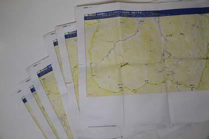 PX-5Vで印刷をしたA3地図