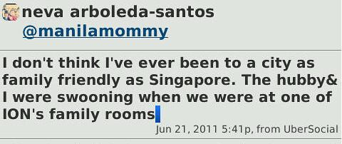 Singapore Tweet