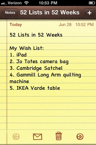 52 Lists in 52 Weeks || Week 4
