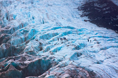 Franz Josef Glacier [Explored] (Jesper Blow) Tags: blue newzealand people snow cold ice rock canon rocks glacier franz nz josef franzjosefglacier 24105mm 50d