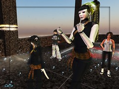 Tourney_006 - Ellie & Cait (Caitlin Tobias) Tags: fight ninja sl tournament secondlife sword samurai katana combat spar csi imperium sessou