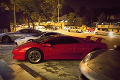 Diabolical vee-twelve vee-tee (///r3) Tags: red cars sports exotic malaysia diablo rosso lamborghini coupe supercar bangsar automobiles v12 worldcars wnn666