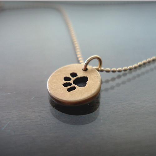 Tiny Paw Print Necklace