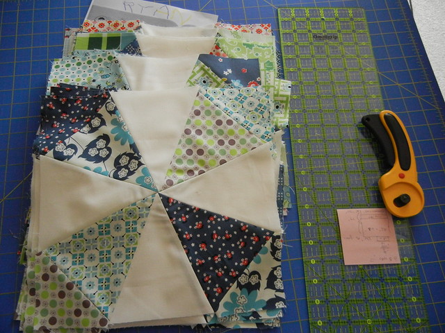 My Kaleidoscope blocks - ready for squaring!