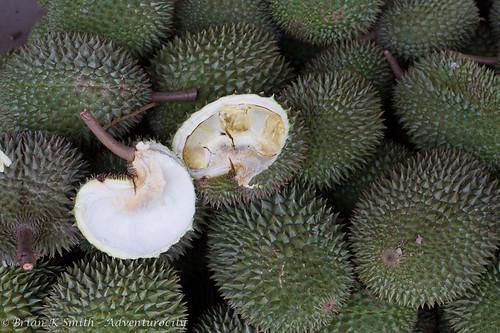 Fresh durian, Mekong delta, Vietnam