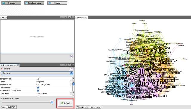 Gephi - preview refresh