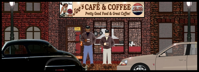 Old Men & Coffee Shops Mini Banner