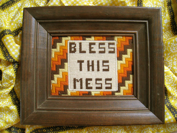 bless this mess embroidery