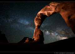 Allure of Worlds (Goldpaint Photography) Tags: usa stars utah ut galaxy astrophotography moab astronomy nightsky archesnationalpark celestial delicatearch starrynight milkyway earthandspace landscapeastrophotography goldpaintphotography competition:astrophoto=2011