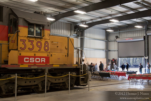 "CSOR Shops - the start of the ceremony<br /><span style=""font-size:0.8em;"">Guests starting to arrive at the grand opening ceremony of the Connecticut Southern Railroad's new offices and car/locomotive shops in Hartford, CT</span> • <a style=""font-size:0.8em;"" href=""http://www.flickr.com/photos/20365595@N04/6904648982/"" target=""_blank"">View on Flickr</a>"