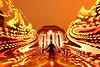 (quornflake) Tags: longexposure red orange lightpainting man blur night weird ruins bokeh lighttrails trippy farnham waverleyabbey digitallightwand