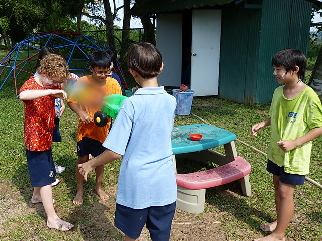 Grade 3 Students relax after completing some short videos about SONGKRAN