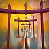 torii transition (msdonnalee) Tags: wall fx torii wroughtirongate artdigital mexicanwall shintosymbolism