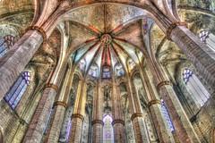 Voute - Eglise Sainte-Marie-de-la-Mer - Barcelone  - Espagne (Micky75017) Tags: barcelona spain espana espagne hdr barcelone spagna ducloux micky75017