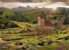 Green valley (Jean-Michel Priaux) Tags: sunset green church fairytale photoshop landscape alsace paysage fairyland hdr vosges ottrott saintnabor priaux ringexcellence