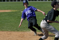 Beats the throw to third (North Shore Country Day School) Tags: sports boys baseball middleschool 1112 photoofday springpurple lfcds