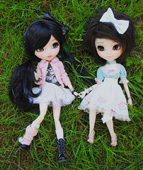 Les retrouvailles [Lindsay &Lana] (Brindfoliee) Tags: fur doll wig pullip fc facets monique coolcat animaleyes obitsu ddalgi darkstars fullcusto azazelle brindfoliee