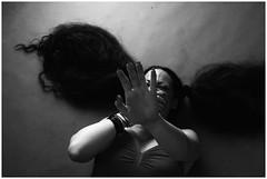 *** (gagilas) Tags: female model hand floor fingers longhair hidding uberlong