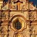 Detalle de la fachada de la Misión de Nuestra Señora de la Luz de Tancoyol